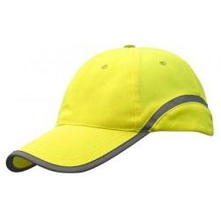 Signalinė kepurė su snapeliu geltona