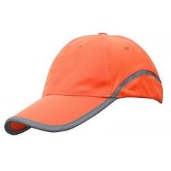 Signalinė kepurė su snapeliu oranžinė
