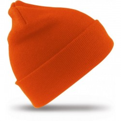 Megzta žieminė kepurė oranžinė