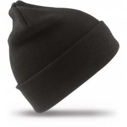 Megzta žieminė kepurė juoda