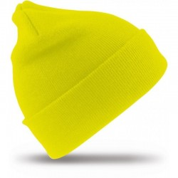 Megzta žieminė kepurė geltona HI-VIS