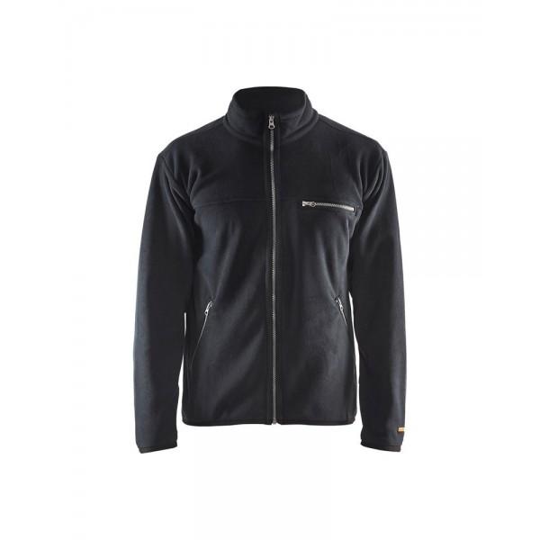 Fleece džemperis juodas