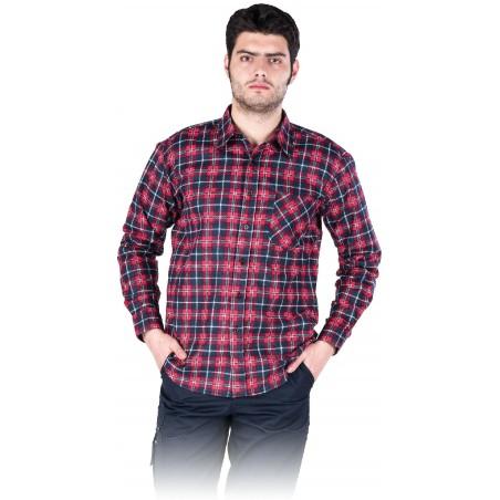 Vyriški flaneliniai marškiniai rausvi