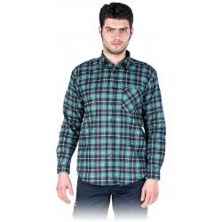 Vyriški flaneliniai marškiniai žali