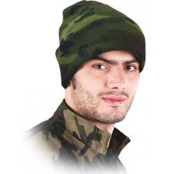 Šilta megzta kepurė kamufliažinė