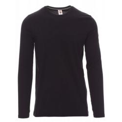 Marškinėliai ilgomis rankovėmis juodi
