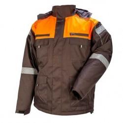 Žieminė darbinė striukė STRONGO pilka/oranžinė
