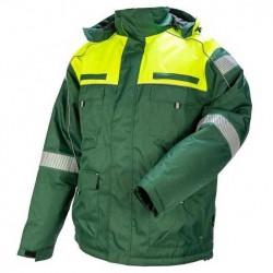 Žieminė darbinė striukė STRONGO žalia/geltona