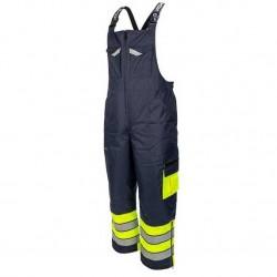 Žieminis darbo puskombinezonis STRONGO mėlyna/geltona
