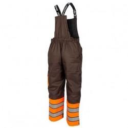 Žieminis darbo puskombinezonis STRONGO pilka/oranžė